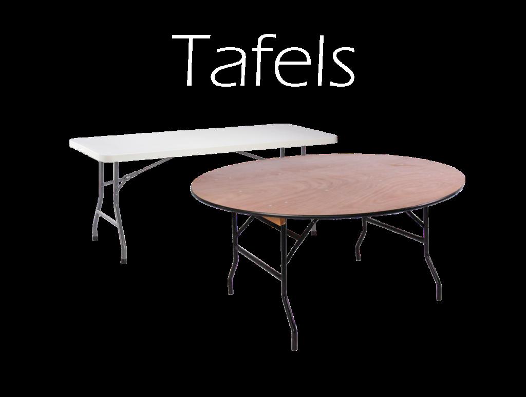 tafels huren, verhuur van tafels